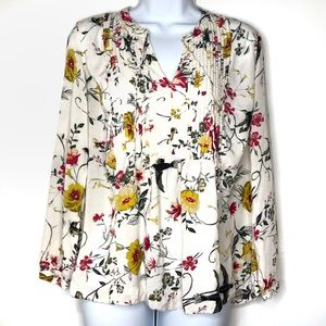 Old Navy Floral and Bird Flouncy Blouse Size Med